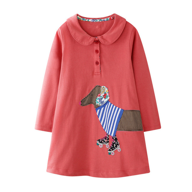 VIDMID Baby Girls Dress Long Sleeve Princess unicorn Dress Children cotton cute Kids Party Dresses Baby Girls Clothes W01 6