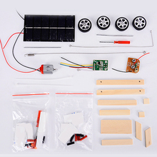 Intelligence RC Car Funny Wooden Wireless Vehicle Mini DIYAssembly Scientific Experiment Solar Powered Educational Toy Model neje yw0006 1 diy assembly dynamic creative saline salt water powered toy car blue white