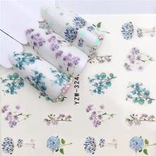 YWK 1 PC פרח/בעלי החיים עיצובים העברת מים מדבקת אמנות ציפורן מדבקות DIY אופנה כורכת טיפים מניקור כלים