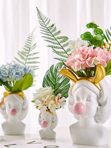 Resin Vase Brushes-Holder Vases-Basket-Pen Flower-Pot Human-Head Home-Decoration Catwoman