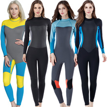 Neoprene 3MM Scuba wetsuit ladies long sleeve snorkeling Surfing Sun-proof Spearfishing skin diving suit women winter swimwear new arrival long sleeve women scuba diving wetsuit surfing snorkeling swimwear spearfishing triathlon print swimsuit