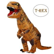 Adult Kids Inflatable Dinosaur Costume T REX women Men Costumes dinosaur Alien Halloween Party Fancy Dress suit Carnival Cosplay