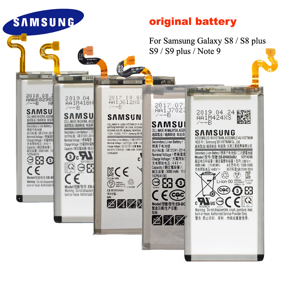 Original Battery For Samsung Galaxy S8 / S8 Plus / S9 / S9 PLUS / Note 9  G950 G955 G960 G965 Replacement Batteria Akku