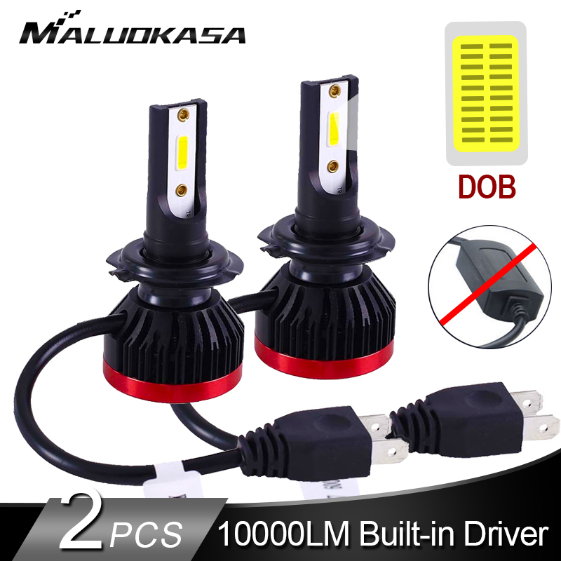 2PCS H7 <font><b>LED</b></font> Headlight Bulb Built-in Drive Super Mini Auto Lamp DOB <font><b>10000LM</b></font> 50W <font><b>H4</b></font> <font><b>LED</b></font> Car Lights H11 H8 HB3 HB4 Fog Lights 12v image