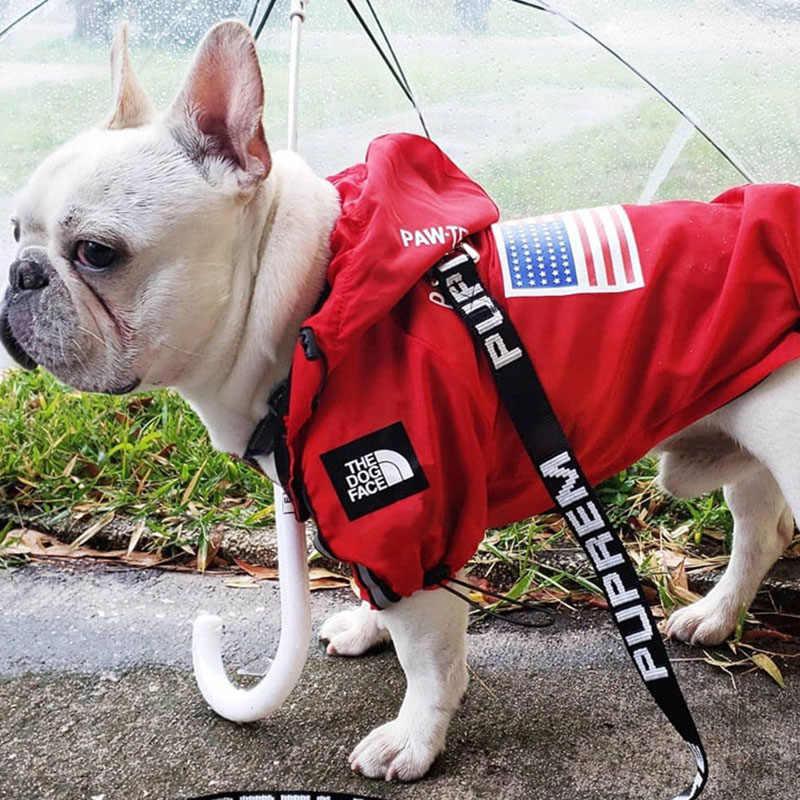 Mode Hond Regenjas voor Hond Kleding Waterdicht Franse Bulldog Kleding voor Hond Regenkleding Hoodie Ademende Puppy Huisdier Kleding
