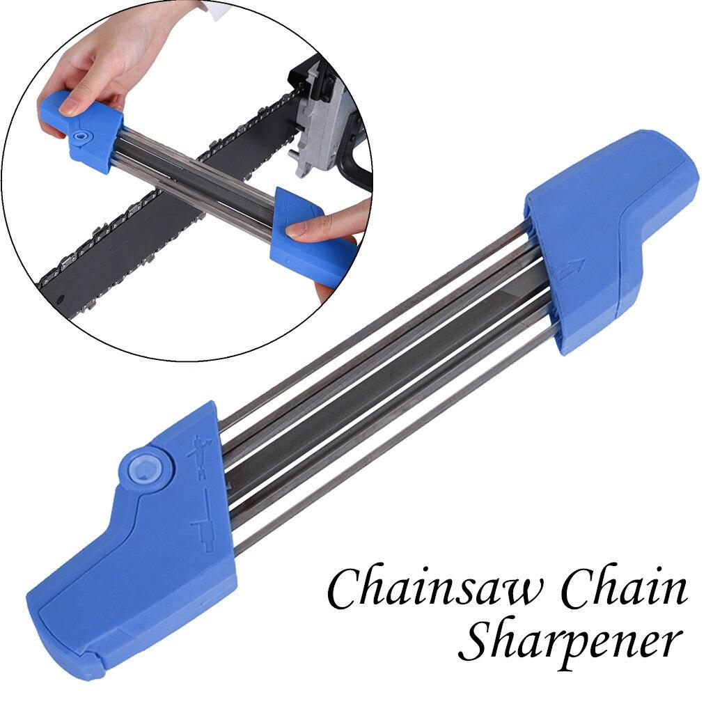 Arquivo fácil 2 em 1 motosserra apontador de corrente 5/32 p 4.0mm corrente ferramenta de moagem rolamento aço ferramentas elétricas acessórios 38 x6 x2.5cm