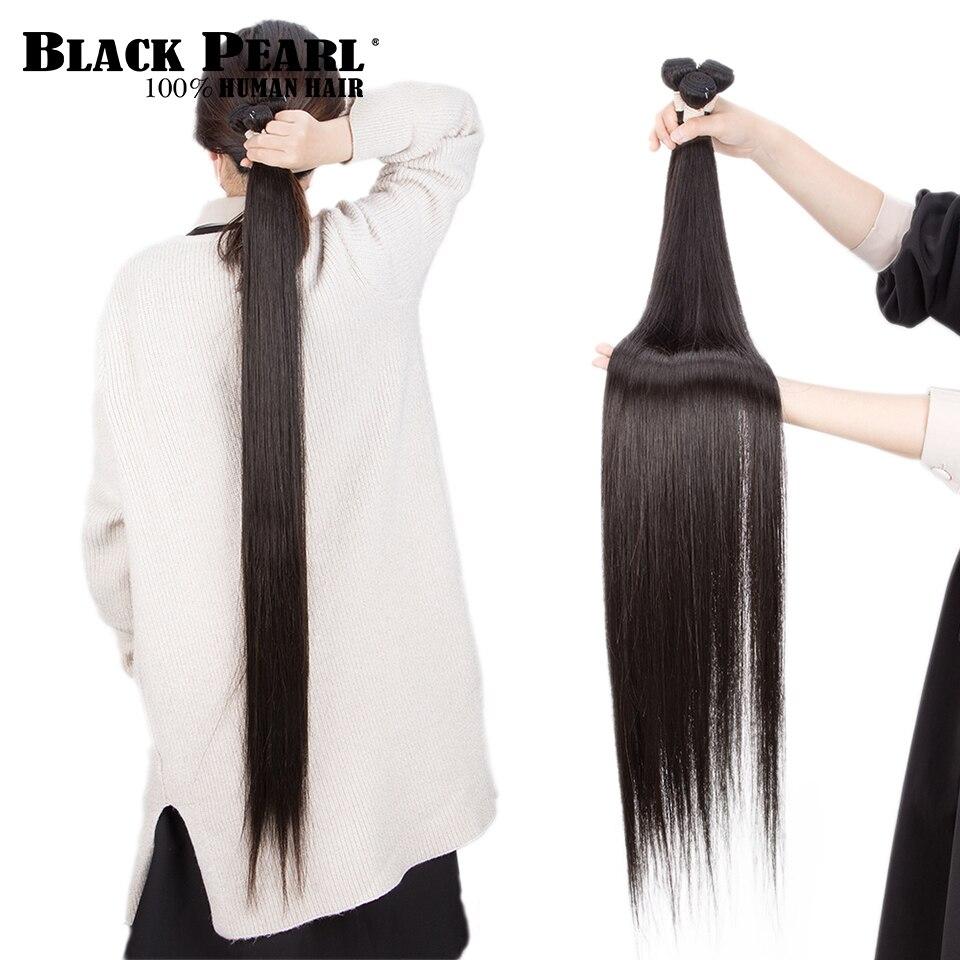 Black Pearl 30 32 34 36 38 40 Inch Bundles Peruvian Hair Weave Bundles 100% Straight Human Hair Bundles Remy Hair Extensions