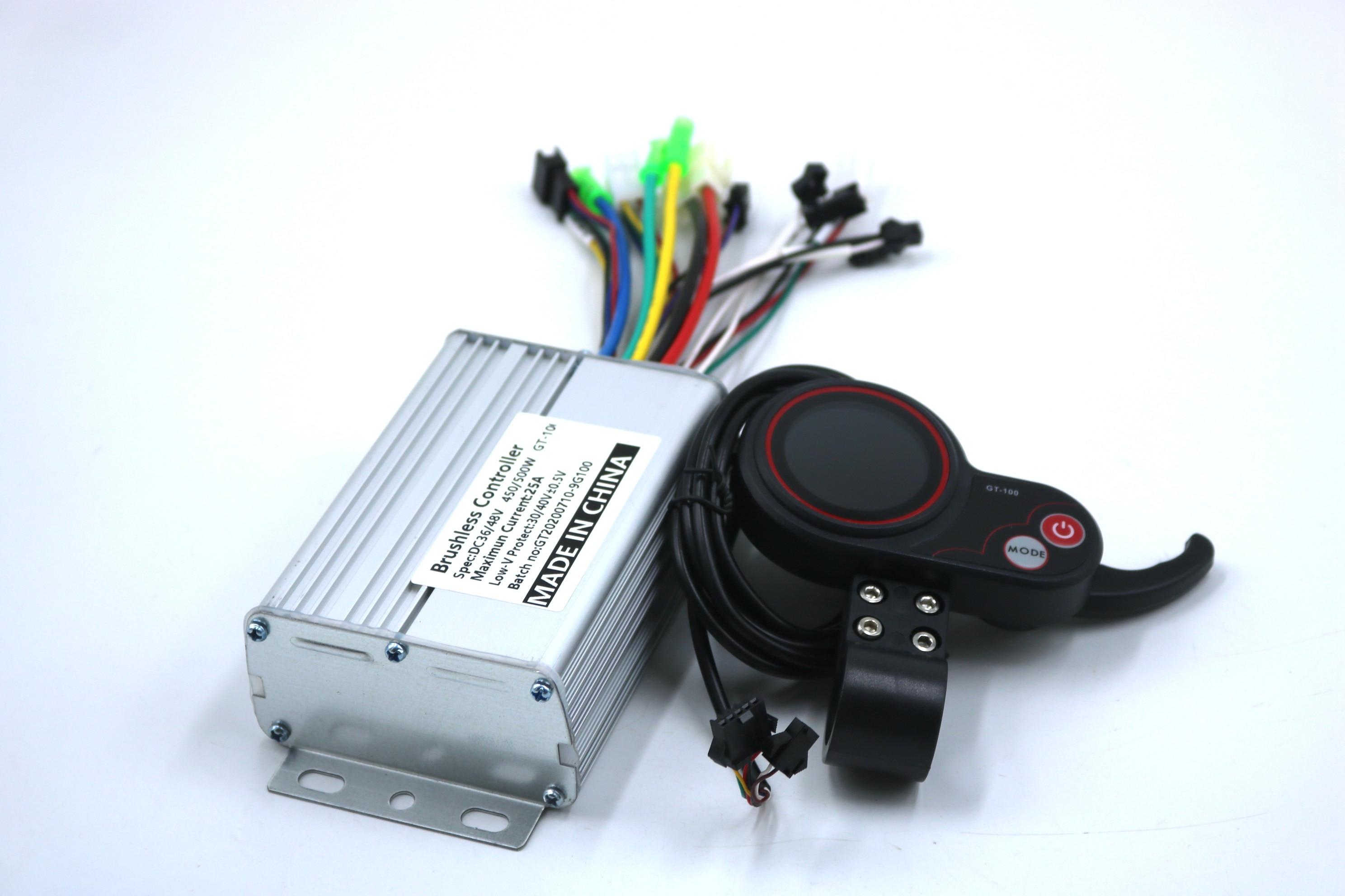 GREENTIME-contrôleur pour vélo électrique ebike, avec écran LCD intelligent, pour commande sans balais, 36V/48V/52V/60V, 500W, 25a, BLDC