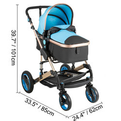Baby stroller flexible turn 2 in 1 foldable stroller 0-36 months newborn reversible