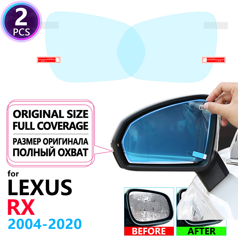 Full Cover Anti Fog Rainproof Film Rearview Mirror for <font><b>Lexus</b></font> RX 2004~2020 RX300 RX330 RX350 RX270 <font><b>RX200t</b></font> RX450h 350 Accessories image
