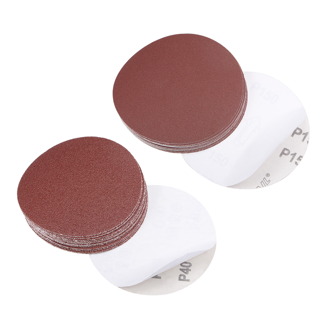 uxcell 6-Inch PSA Sanding Disc Aluminum Oxide Adhesive Back Sandpaper Yellow 40 Grit 10 Pcs