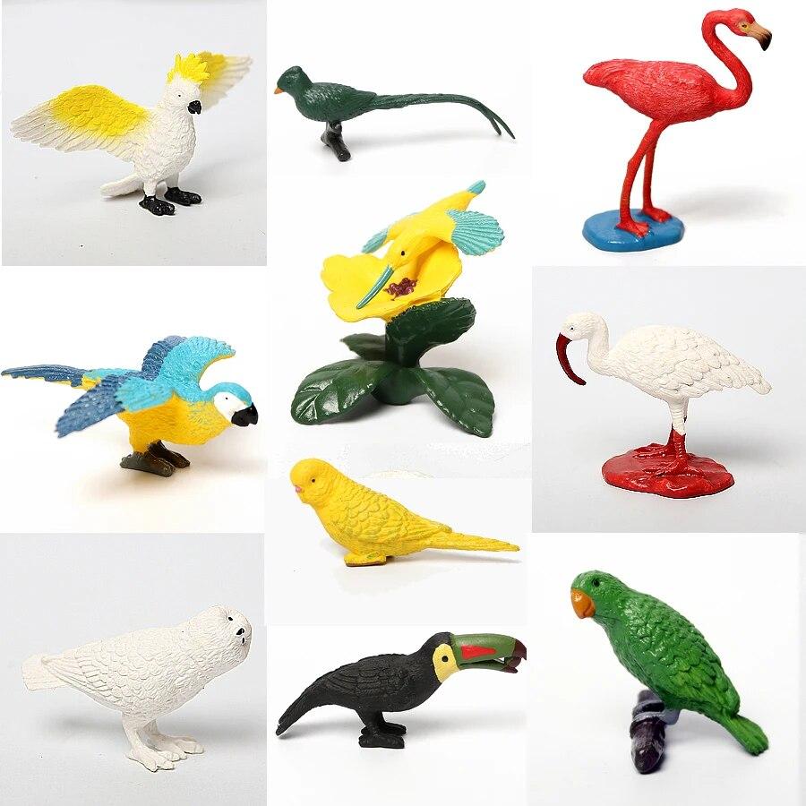 Mini Bird Hummingbird Wild Animal Figurines Animal Toy Play Kids Party Gift