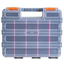 HOT 34 Compartment Double-Sided Storage Bag with Impact-Resistant Polymer and Customizable Removable Plastic Compartment