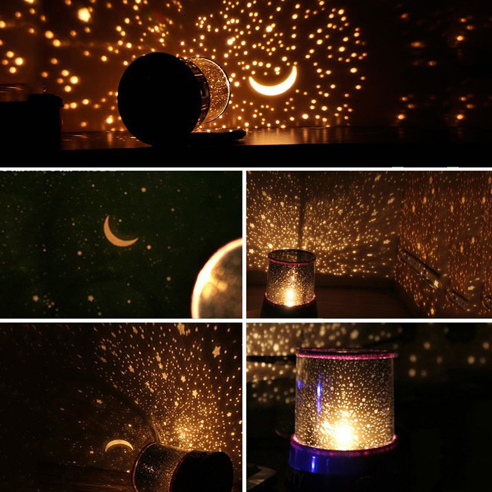 LED Night Light Projector Starry Sky Star Master Projection Lamp Children Kids Baby Sleep Romantic Led Projection Lamp Light
