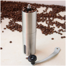 цена на Coffee Grinder Stainless Steel Hand Manual Mini Handmade Coffee Bean Grinder Mill Kitchen Tool Silver Coffee Mill Crocus Grinder