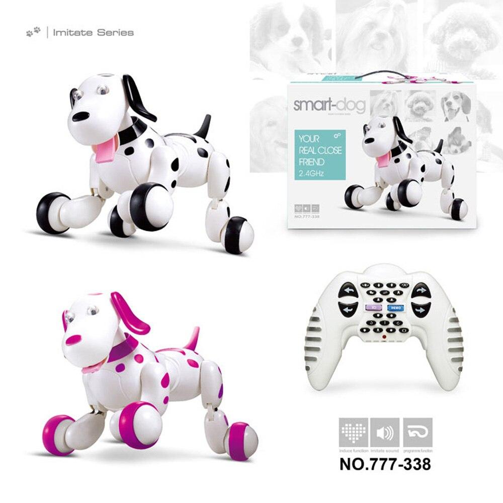 Cadeau d'anniversaire RC zoomer chien 2.4G télécommande sans fil chien intelligent électronique Pet éducatif jouets pour enfants Robot jouets