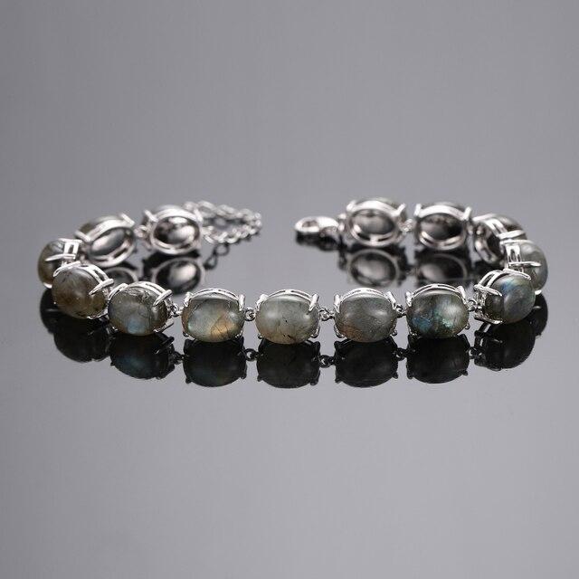 Bracelet Pierres Porte-Bonheur Plat Labradorite
