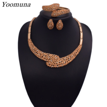 Fashion African Dubai Gold Jewelry Women African Beads Set Nigerian Bridal Jewelry Sets Wedding Accessories 2019 все цены