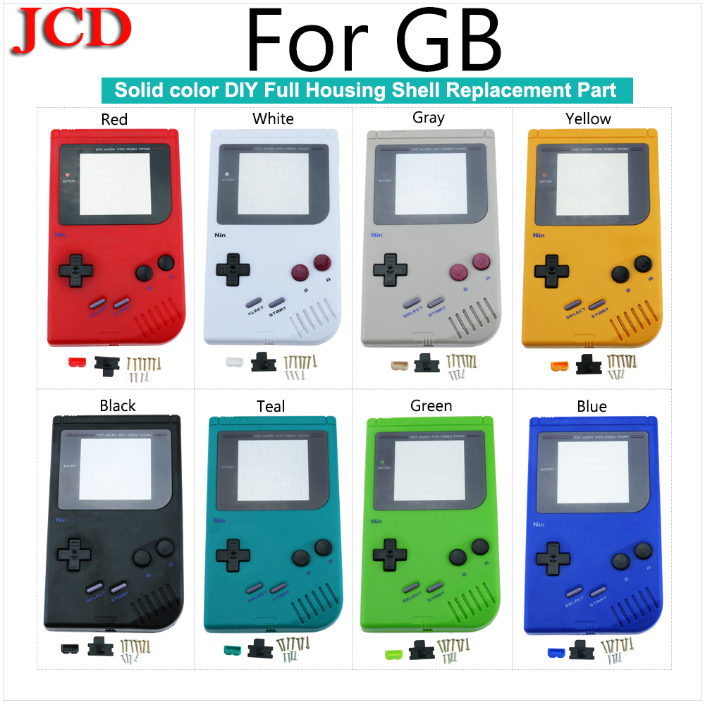 JCD New For Game Boy Classic Game Replacement <font><b>Case</b></font> Plastic Shell Cover for Nintendo Console housing For <font><b>GB</b></font> <font><b>Case</b></font> for Nintend image