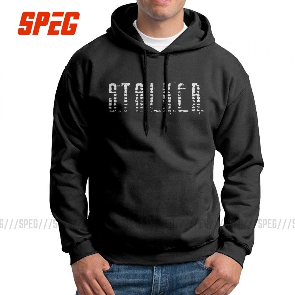 Stalker Hoodies Game Radiation Mens Hooded Sweatshirts Funny 100% Cotton Hoodie Black Hooded TopsHoodies & Sweatshirts   -