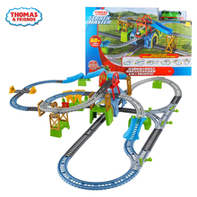 Original Thomas and Friend Electrical Orbital Escape Iron and Steel Factory Diecast Train Set Boys Children Educational Toys