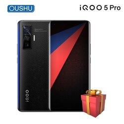 Новый 5G мобильный телефон vivo IQOO 5 pro 12 Гб 256 ГБ Snapdragon 865 50MP Тройная задняя камера Celular LPDDR 5 NFC 120 Вт VOOC смартфон