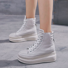 Brand lady's Canvas hight top Lace-up shoes Women c