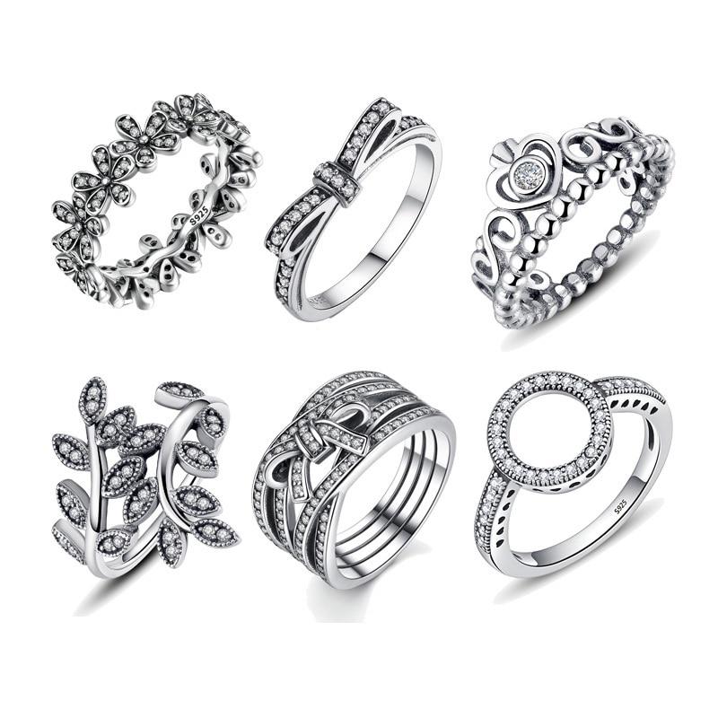 Лидер продаж, 100% Стерлинговое Серебро 925 пробы, кольца, оптовая продажа, популярные кольца с цветами для женщин, ювелирные изделия, доставка