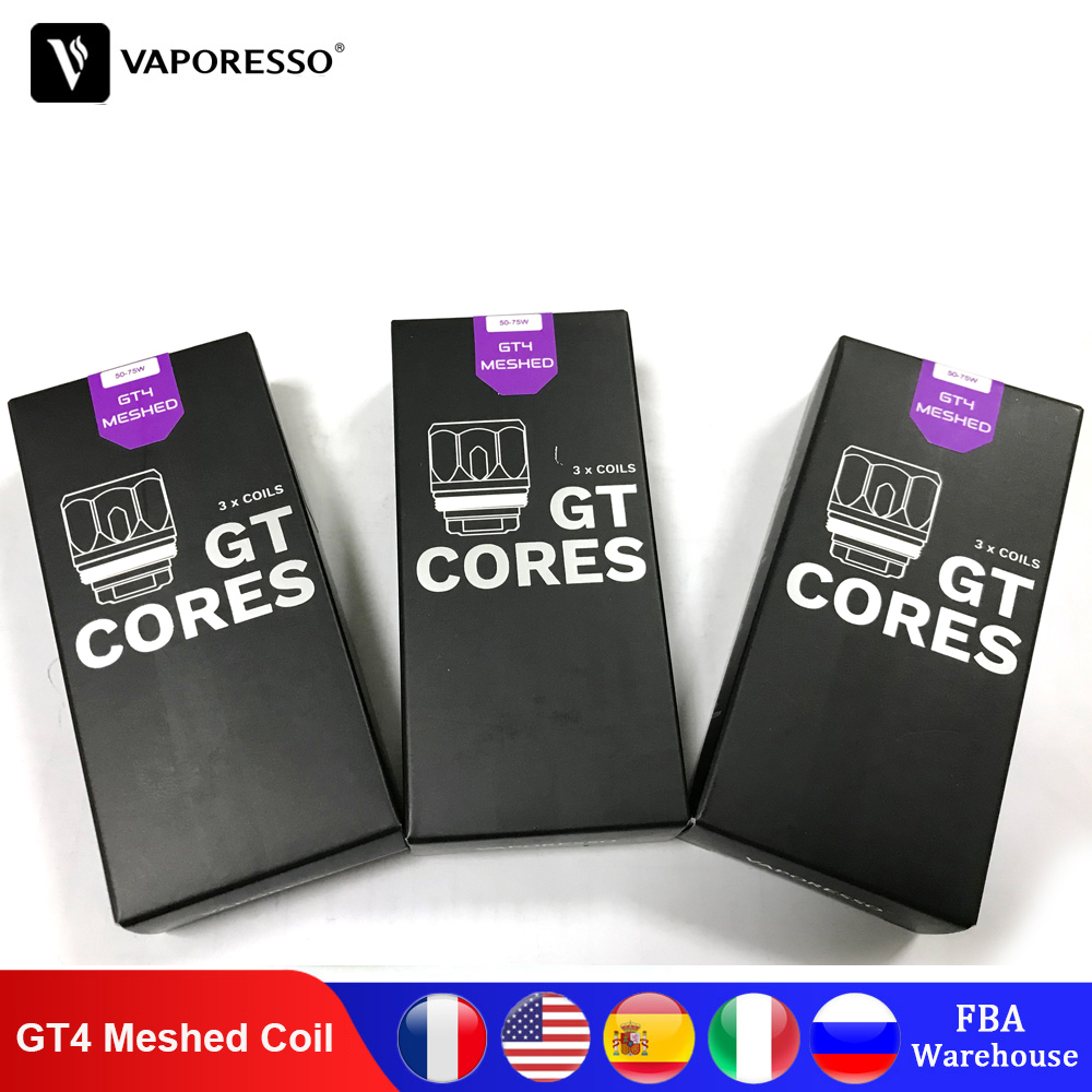 Original Vaporesso GT4 Meshed Coil For SWAG 2 GEN LUXE S Vape Kit NRG PE SKRRS Tank Atomizers Core Electronic Cigarettes Coils