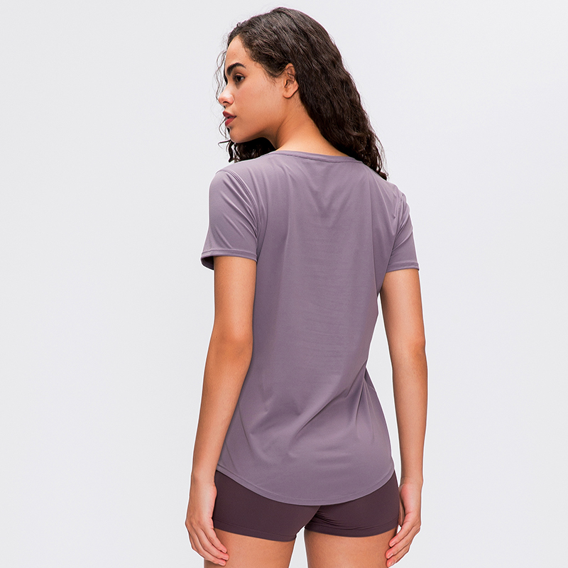 New 2020 Women's Sports Yoga Short Sleeve Sexy Shirts Fitness Gym Running Tank With Good Quality Tops Tee Free Shipping