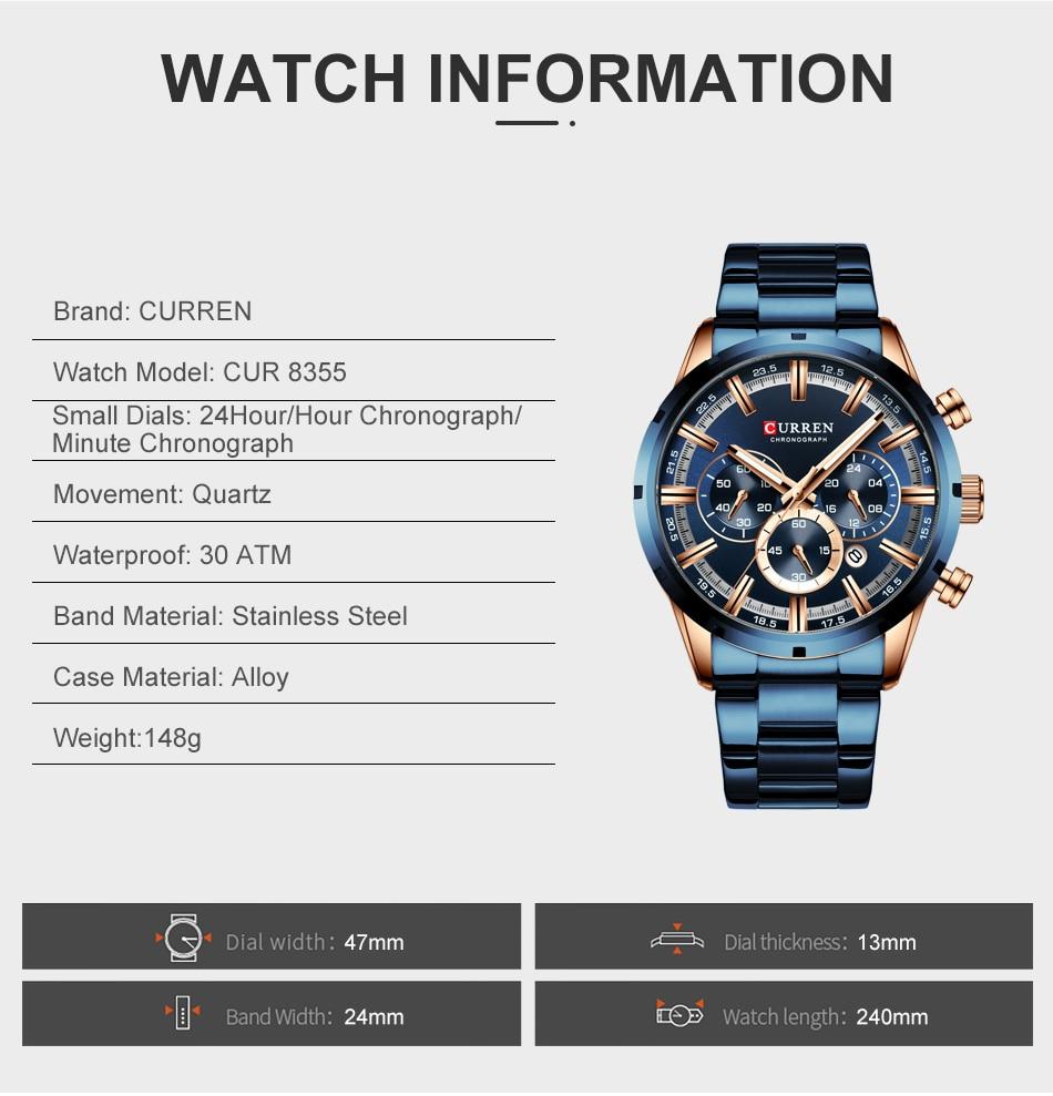 He1d1dbda88bc4f5b8d9b600dc1db26213 CURREN Men Watch Top Brand Luxury Sports Quartz Mens Watches Full Steel Waterproof Chronograph Wristwatch Men Relogio Masculino