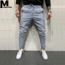 Moomphya 2020 New Stripes Casual Pants Joggers Men Skinny Lo