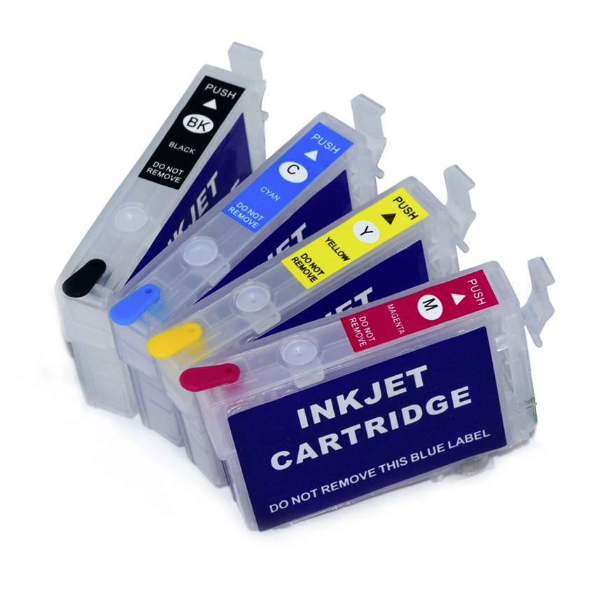 212 212XL Refillable Ink Cartridge For Epson Expression Home XP-4100 XP-4105 WorkForce WF-2830 WF-2850 Printer No Chip