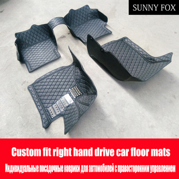 SUNNY FOX Right hand drive/RHD car car floor mats for Mazda 2 3 Axela 6 8 6D CX5 CX-5 CX7 case car-styling carpet heavy duty ant image