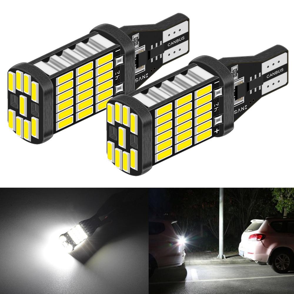2x Canbus T16 T15 921 W16W LED Bombilla de respaldo luces de marcha atrás para Hyundai tufson 2017 Creta Kona IX35 Solaris Accent I30 Elantra