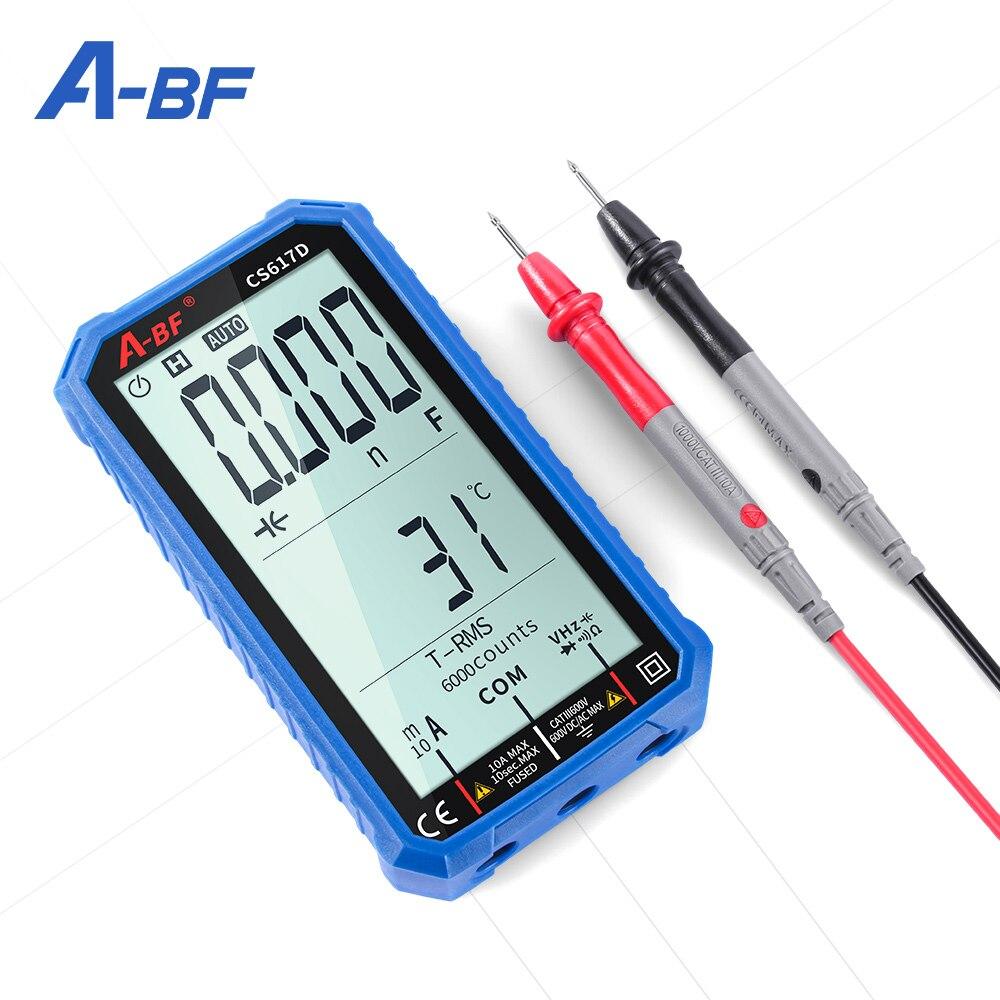 A-BF Профессиональный цифровой Смарт мультиметр CS617D 4.7In ЖК-дисплей DC/AC Напряжение переменного тока сопротивление постоянной ёмкости, универс...