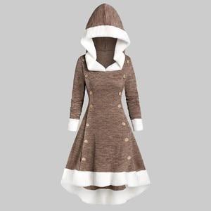 Hoodie Dress 2020 Vintage Long Sleeve Gothic Dress Women Casual Fashion Elegant Dresses Woman Party Night Slim Fit Vestidos#Y7