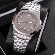 Sport watch mens mechanical watches sapphire glass Brown dial stainless steel bracelet sports Glide sooth second hand w