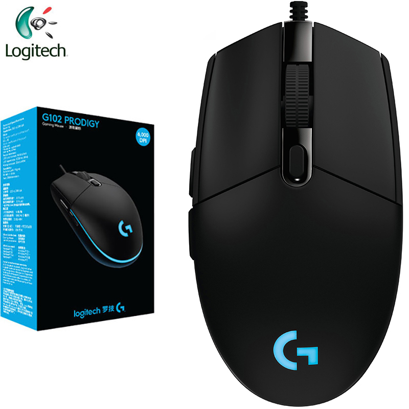 Original Logitech G102 Gaming Wired Mouse 200-6000DPI  Wired Home&Office Mouse Support Win10/8/7 For Desktop / Laptop