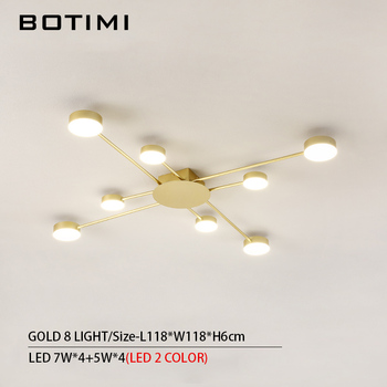 BOTIMI Novelty Metal Irregular Ceiling Lights For Foyer Black Ceiling Lamp Golden Surface Mounted Bedroom Lighting Fixture 15