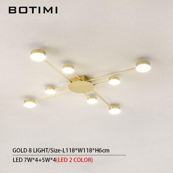 BOTIMI Novelty Metal Irregular Ceiling Lights For Foyer Black Ceiling Lamp Golden Surface Mounted Bedroom Lighting Fixture 15