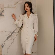 Повседневное облегающее белое осеннее платье женское офисное