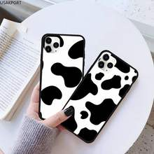 Cow black and white point Phone Case Rubber for iPhone 11 pro XS MAX 8 7 6 6S Plus X 5S SE 2020 XR case(China)