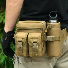 Tactical Men Waist Pack Nylon Hiking Water Bottle Phone Pouch Outdoor Sports Army Military Hunting Climbing Camping Belt Bag