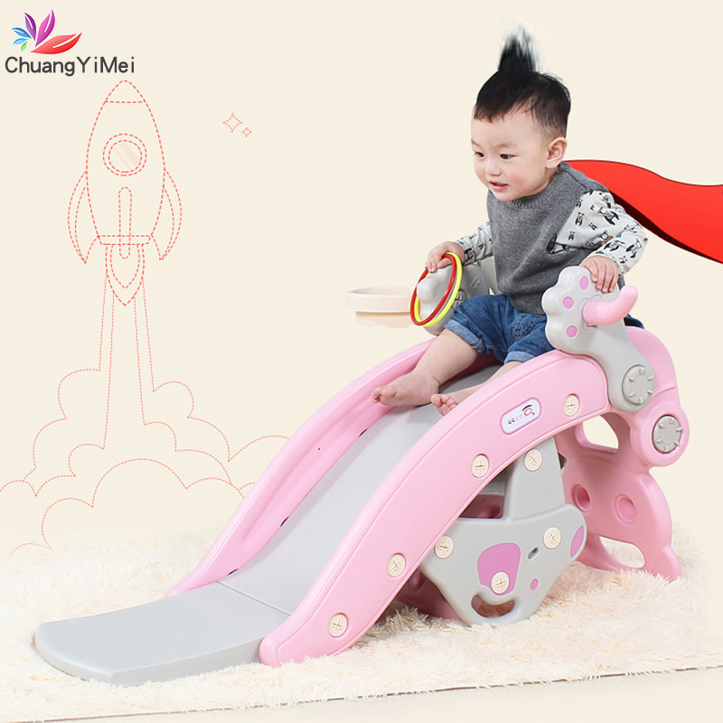 Baby Rocking Horse For Kids Slides 2 In 1 Children's Slides Ride Horse Toy Multifunction Indoor Home Baby Playground Toys M012