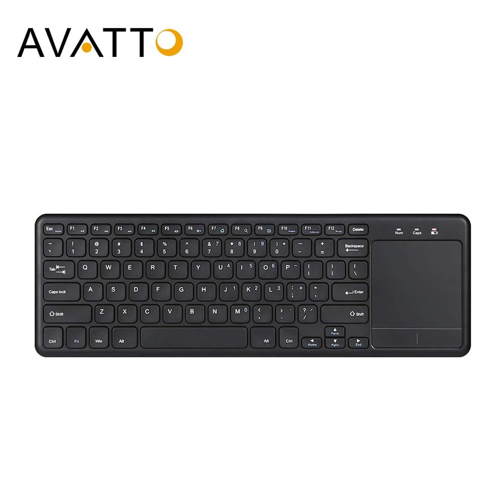AVATTO Whisper Тихая 2,4 _ офисная клавиатура с тачпадом и мышью Combo для Windows PC,Smart TV,Android Box