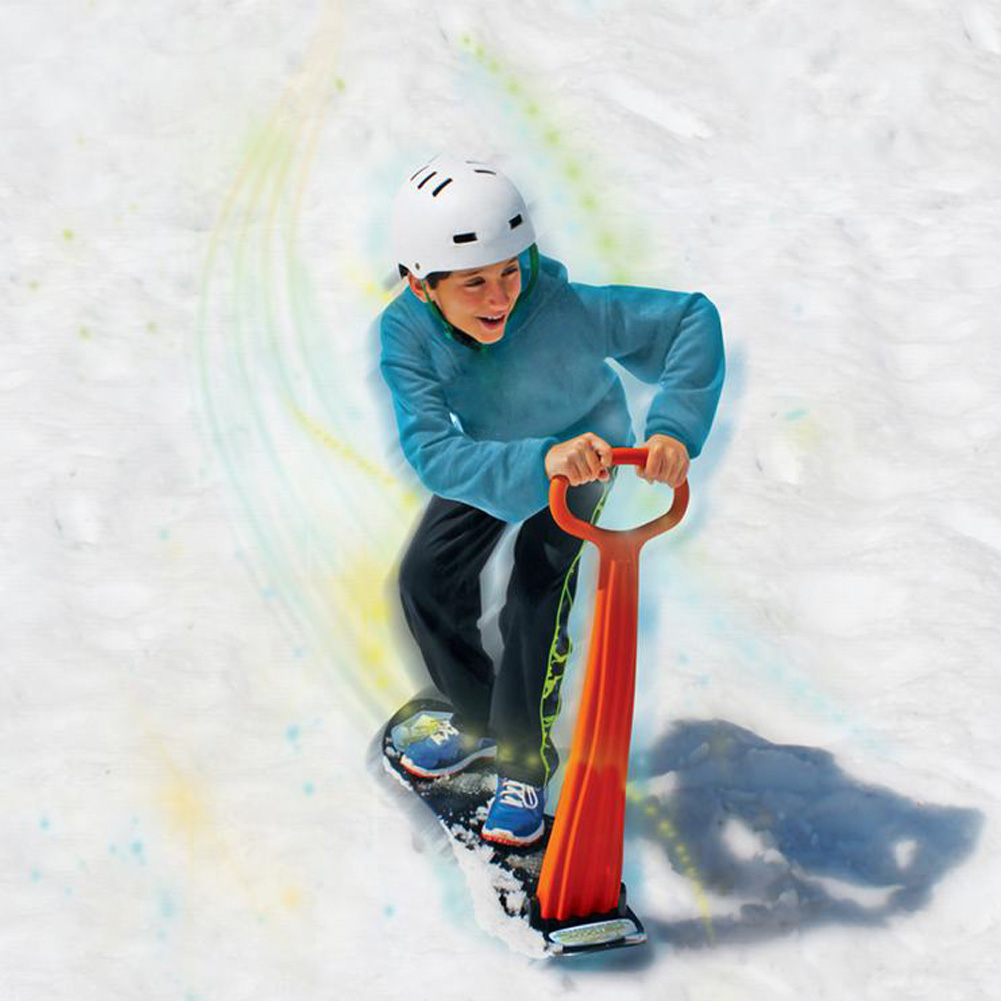 Уличный Взрослый Детский лыжный сноуборд шпон складной скутер для снежных саней рукоятка зимнее снаряжение для игры в снег