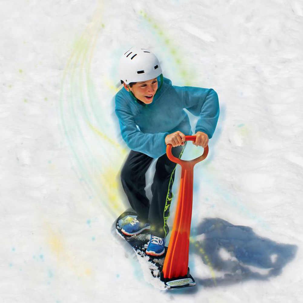 屋外大人の子供スキースノーボードベニヤ折りたたみため雪そりグリップハンドル冬演奏雪機器