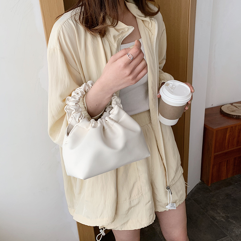 PU Leather Cloud Tote Bags For Women 2020 New Solid Color Shoulder Messenger Bag Female Handbags And Purses Travel Crossbody Bag