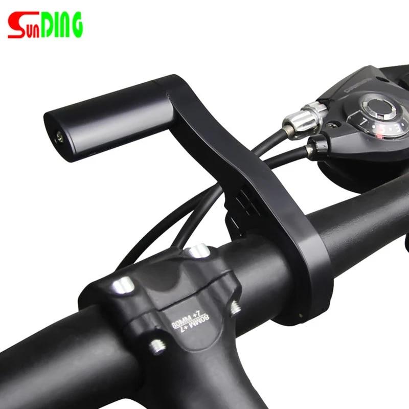 Bicycle Extension Bracket MTB Bike Handle Bar Alloy Mount Phone Extender Rack US